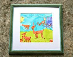 Childrens silk painting