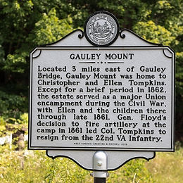 Gauley Mount Road Marker