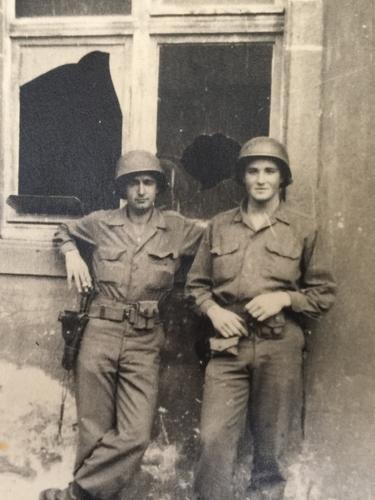 Dad w Army Buddy