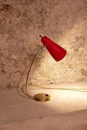 Lampe de chevet en laiton années 60