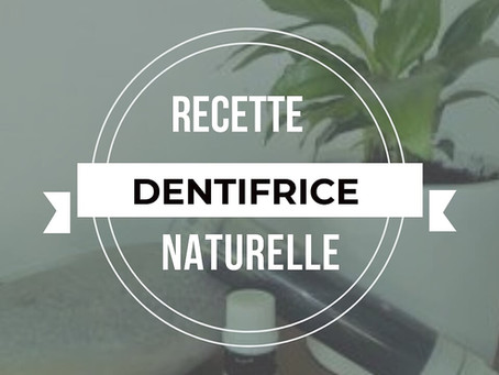 Recette Dentifrice Gel Menthe