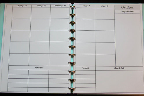 Printable TEACHER Planner: 5 Subject