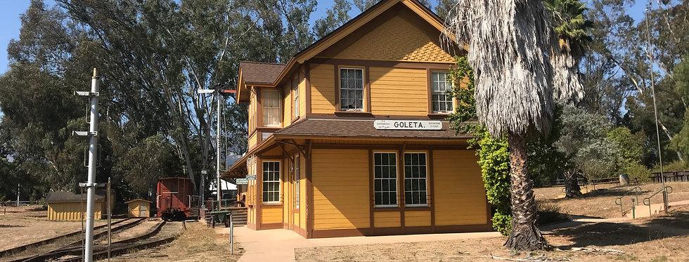 Old Train Depot at Lake Los Carneros, Santa Barbara, CA