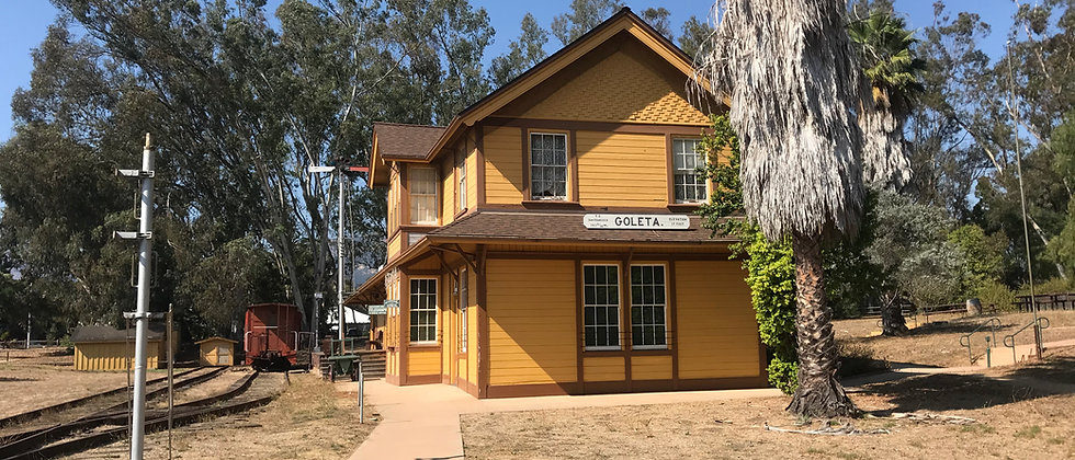 Goleta Train Depot at Lake Los Carneros, Santa Barbara, CA