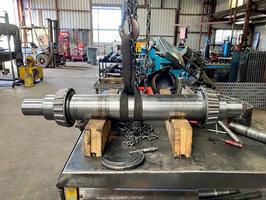 New shaft built for a large roller.