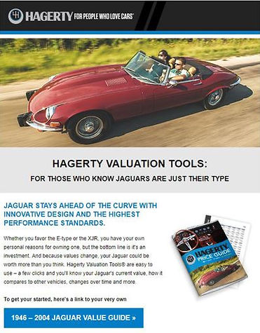 Hagerty value tools/price guide for Jaguar EType