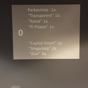 Informacinės lentelės gamyba ir montavimas