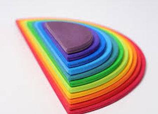 Tiny Treasures, Montessori, Wooden Semi Circle Rainbow