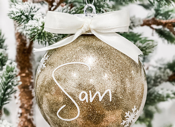 Name and Snowflakes Bauble