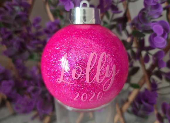 Personalised Name and Year Bauble