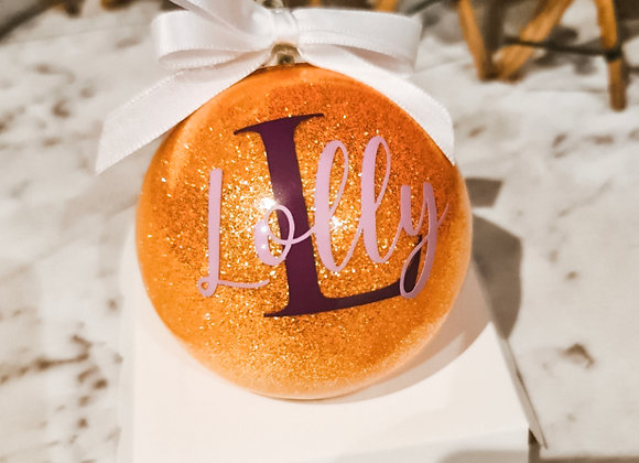 Name and Initial Bauble