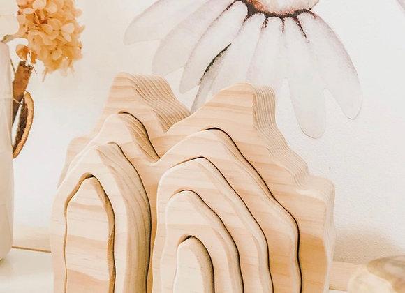 Tiny Treasures, Montessori, Wooden Coral