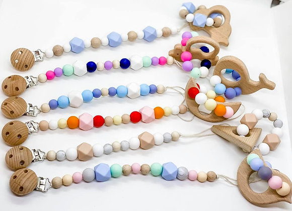 Teether and Dummy Clip Sets - Personalisation Available
