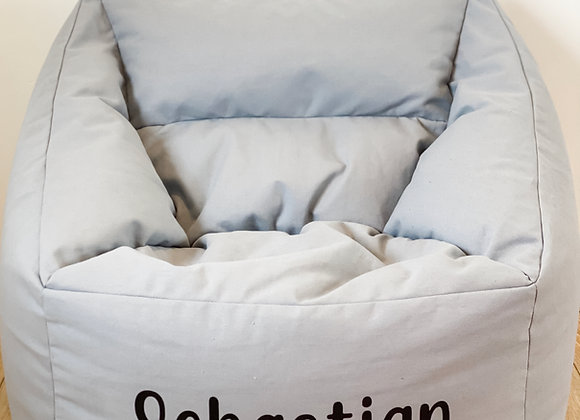 Grey Personalised Bean Bag