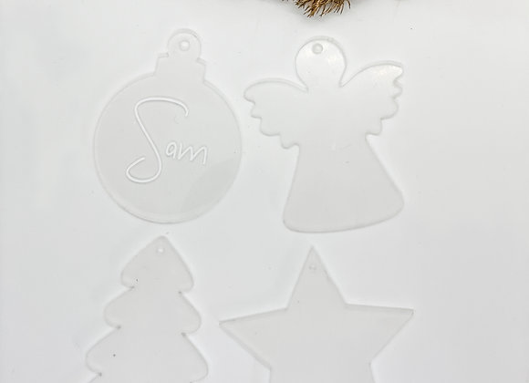 Clear Personalised Ornaments