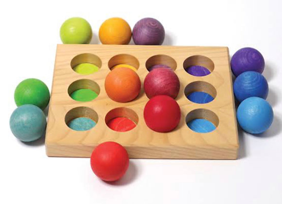 Tiny Treasures, Montessori, Colour Sorting Board and Balls