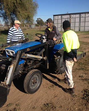 on tractor.JPG