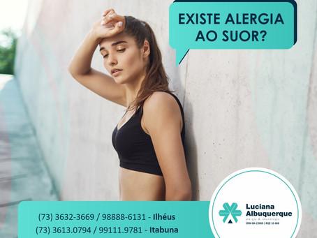 Existe alergia ao suor?