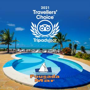 Pousada do Mar ganhou o prêmio Traveller's Choice 2021!