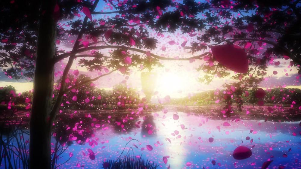 Shinsekai Yori From the New World horizon beautiful petals fields
