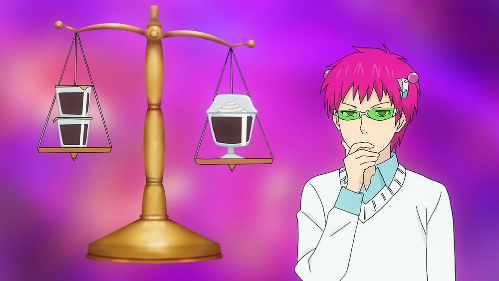 Saiki K coffee jelly weighing balance expensive
