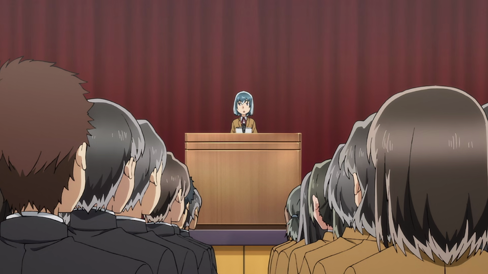 Hinamatsuri Hina Speech Anime Politics Underwood