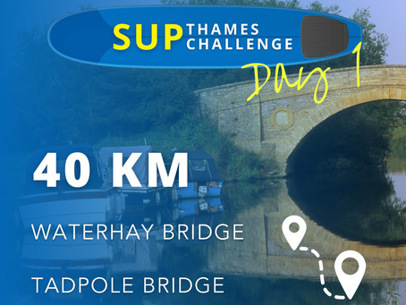 """SUP Thames Challenge Day 1 - Fighting with the Thames """"jungle"""" without fins and headwind"""
