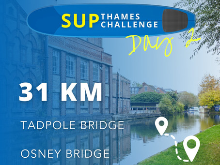 SUP Thames Challenge Day 2 - Bastard Wind and Boards in the Oxford City Centre
