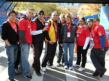 Norwalk Chiropractor volunteers at NYC Marathon