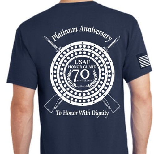 70TH ANNIVERSARY LOGO BLUE T-SHIRT