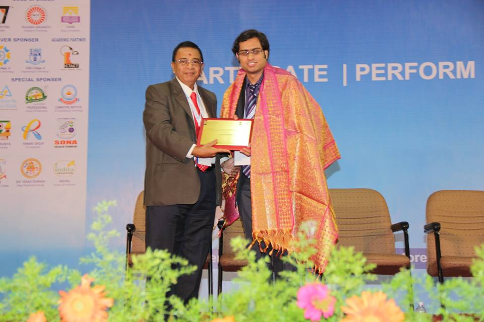 Mr. Sai Sushanth being Awarded