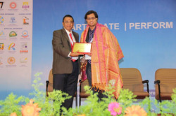 Mr. Sai Sushanth being Awarded