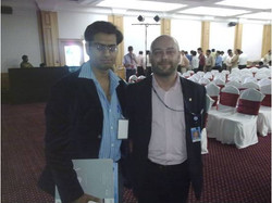 Mr. Sai Sushanth with Raoul Chiesa, UN Cyber Security Expert