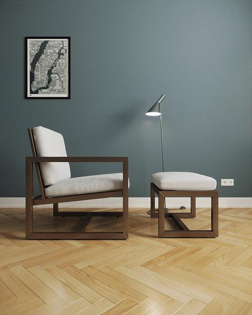 Кресло + пуф