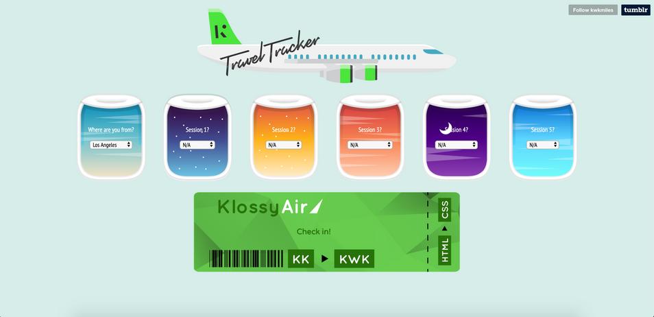 Kode with Klossy TA Travel Tracker