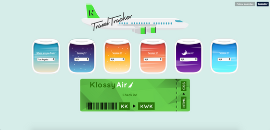 Kode with Klossy TA Travel Tracker