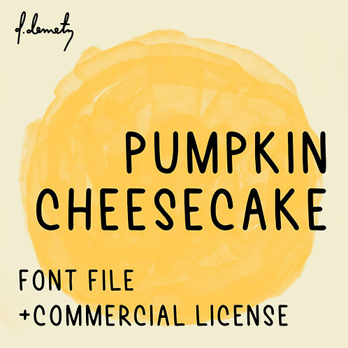 Pumpkin Cheesecake Font & Commercial License
