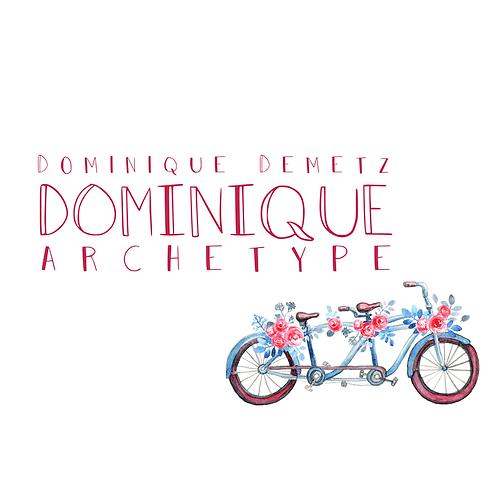 Dominique Archetype  Font & Commercial License