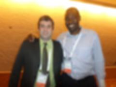 Dr. Rodrigo Carvalho (UFRJ) e Dr. Lawrence Bbosa (UCT)