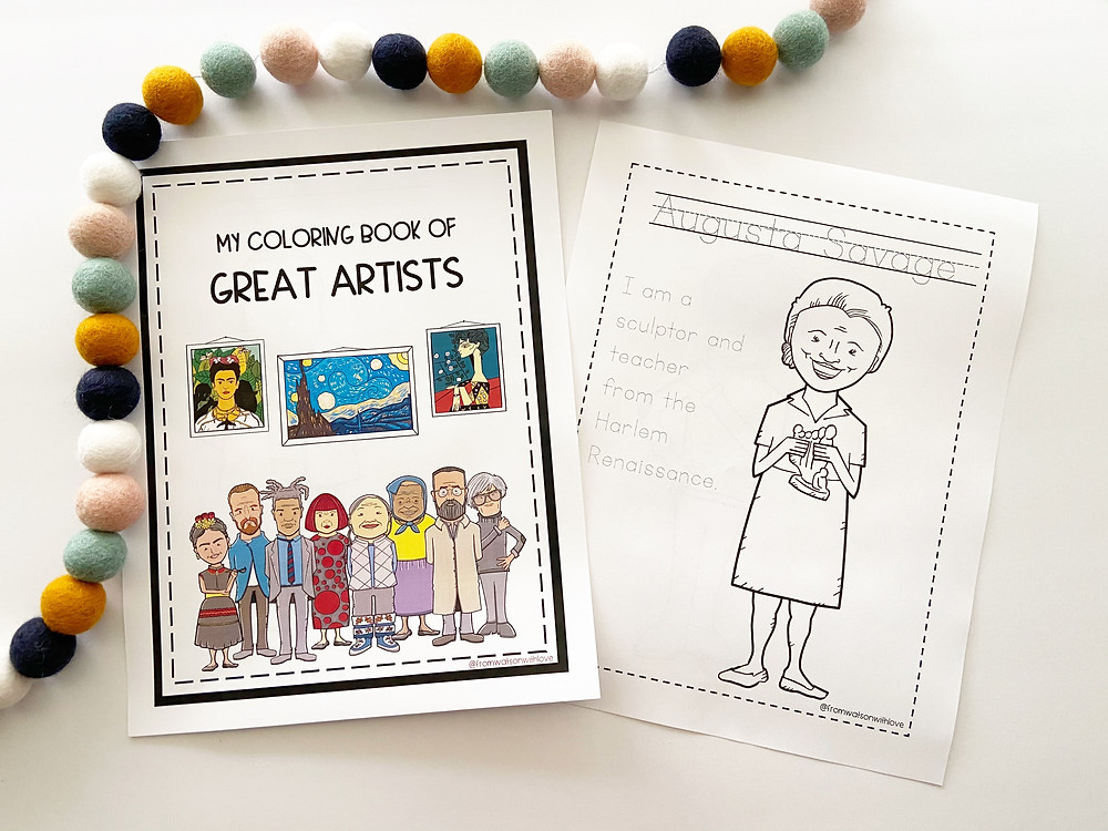 My Coloring Book of Great Artists, Art History for Preschool
