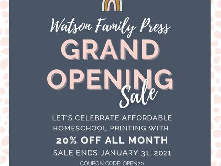 Grand Opening Sale, Goodbye 2020