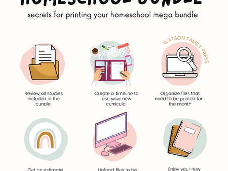 Secrets for Printing Your Homeschool Mega Bundle