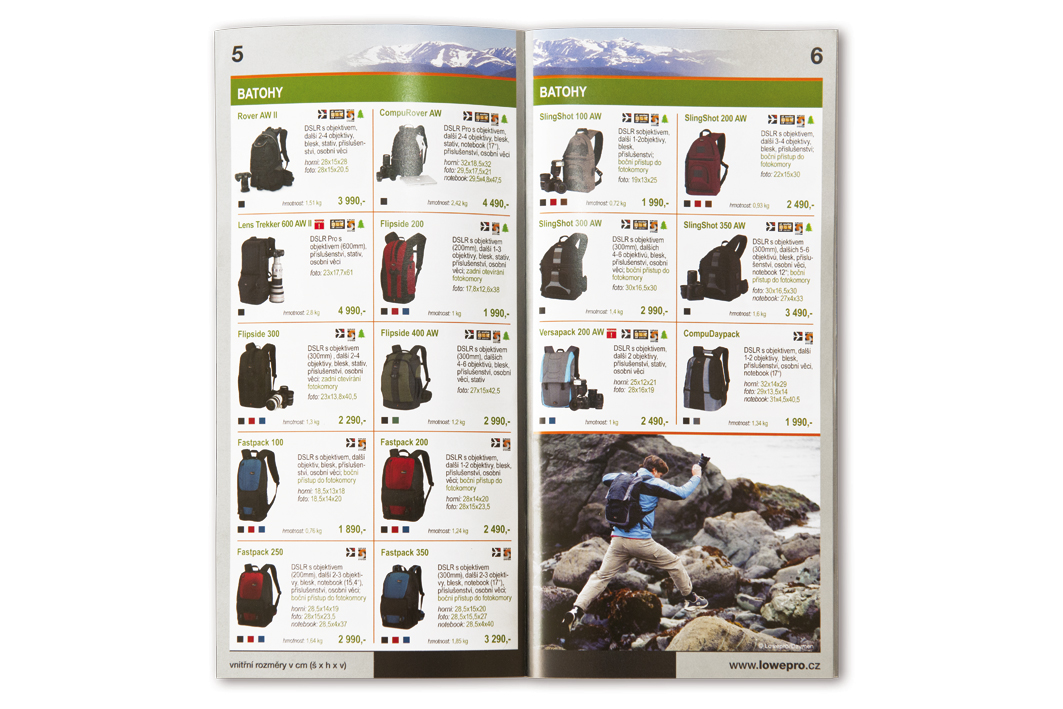 Product catalogue LOWEPRO 2010