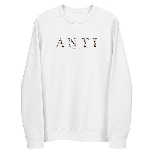 A N T I Leopard Unisex Sweatshirt White
