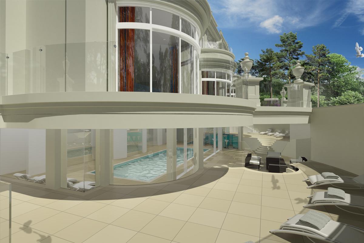conifers-pool