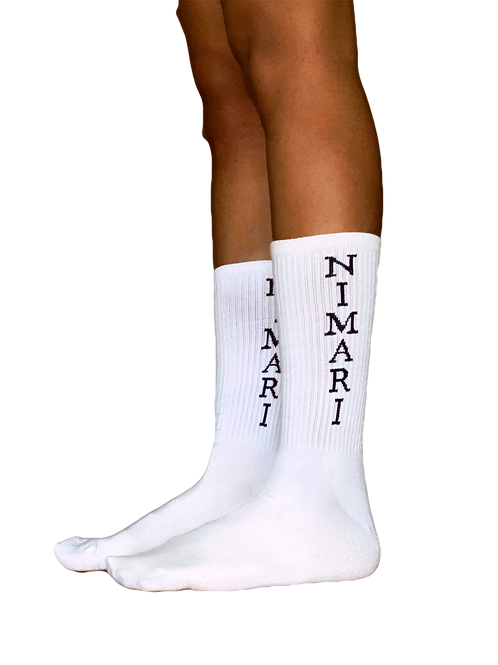 Nimari Double Logo Ribbed Socks