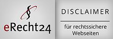Disclaimer erstellt von eRecht24 für rechtssichere Webseiten