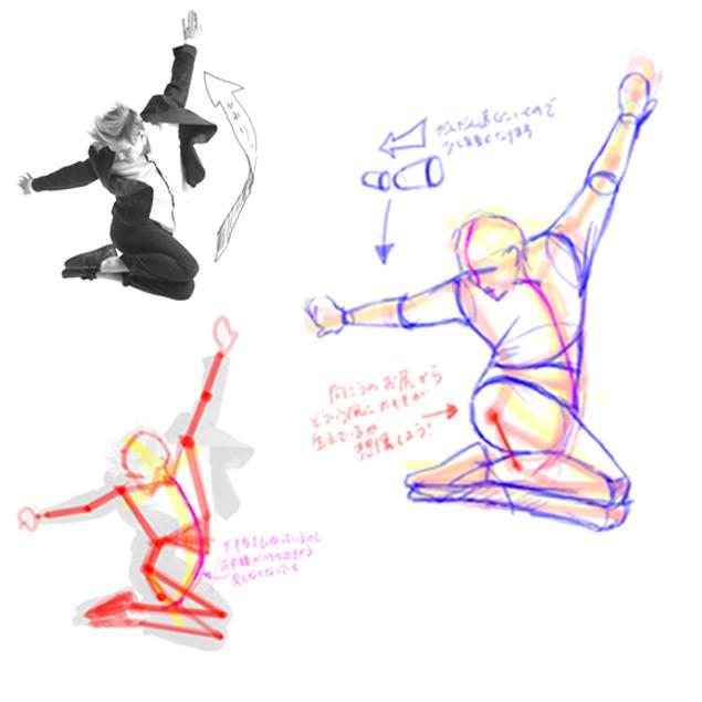 イラストに役立つ!躍動感のある人物の描き方(オンライン)