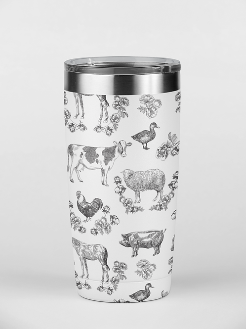 Fluffy Layers Classic Farm Tumbler, Travel Mug 20oz, Mug