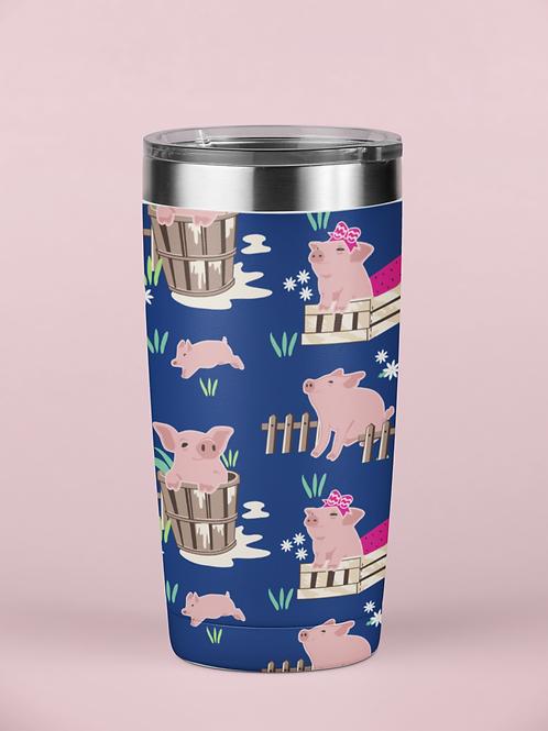 Fluffy Layers Piglets Tumbler, Travel Mug 20oz, Mug